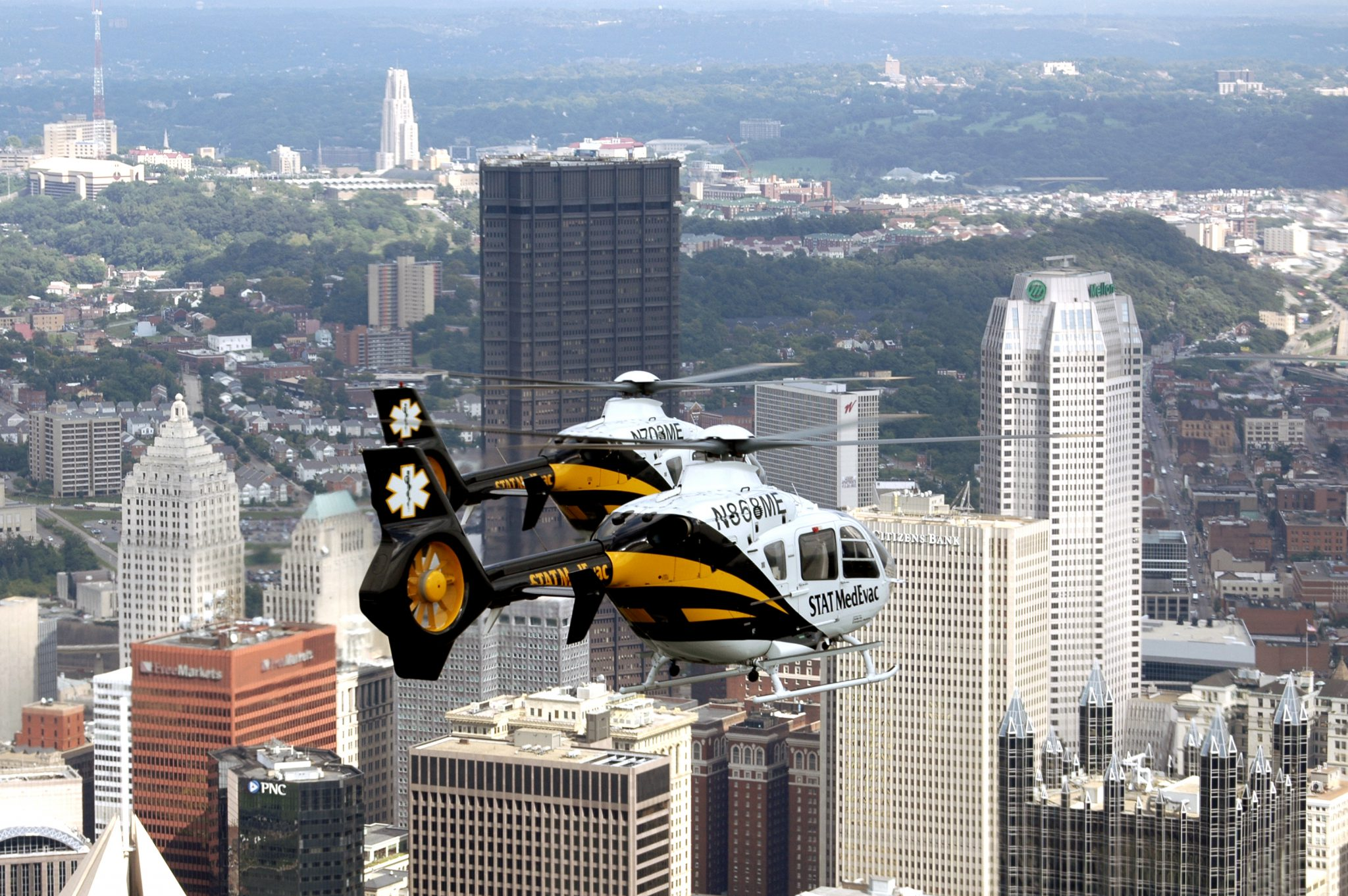 Helicopter over Pittsburh